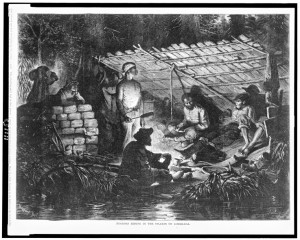 "James L. Langridge, ""Negroes Hiding in the Swamps of Louisiana,"" 1873"