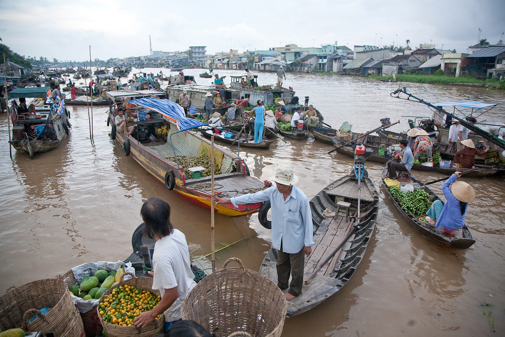 Can Tho Floating Market, Vietnam, October 15 2009