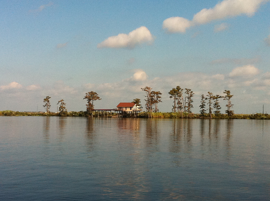 A home along Bayou Manchac